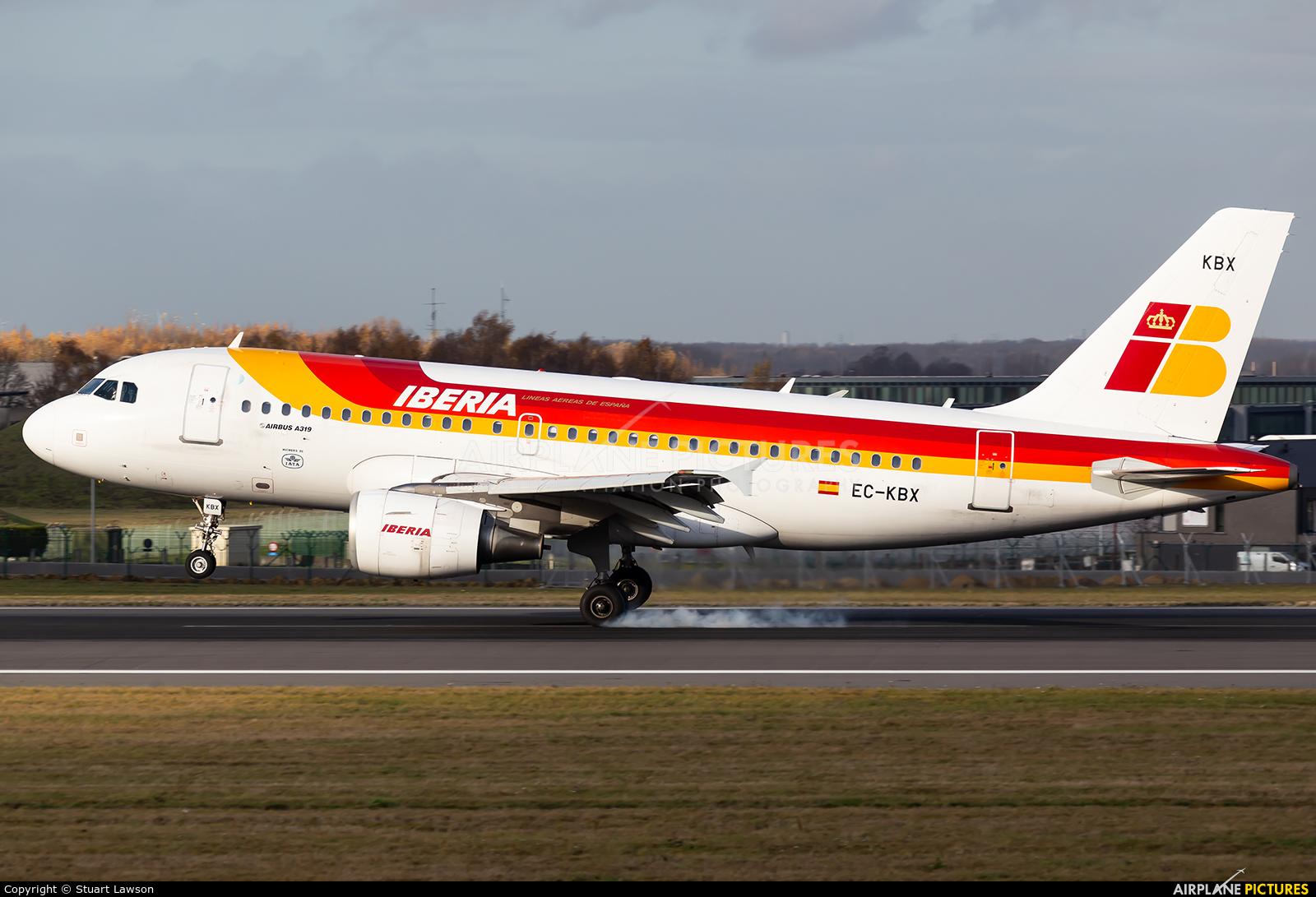 Iberia EC-KBX aircraft at Brussels - Zaventem