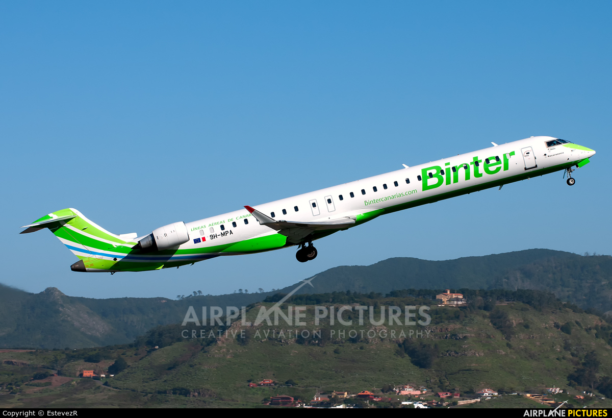 Binter Canarias 9H-MPA aircraft at Tenerife Norte - Los Rodeos