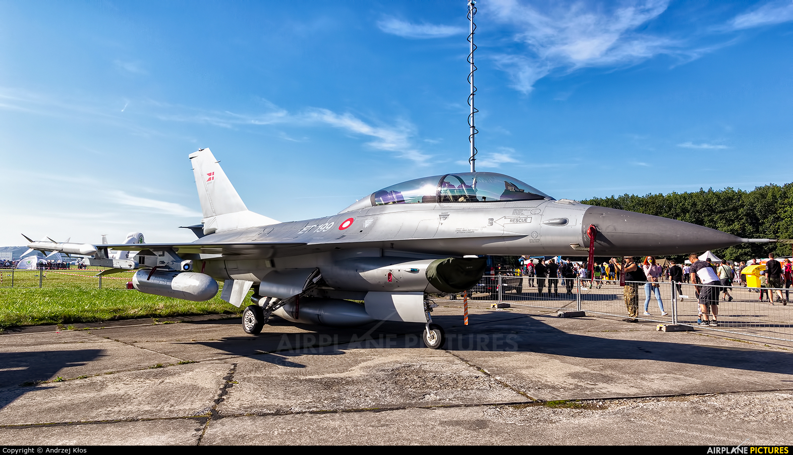 Denmark - Air Force ET-199 aircraft at Ostrava Mošnov