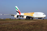 A6-EOU - Emirates Airlines Airbus A380 aircraft
