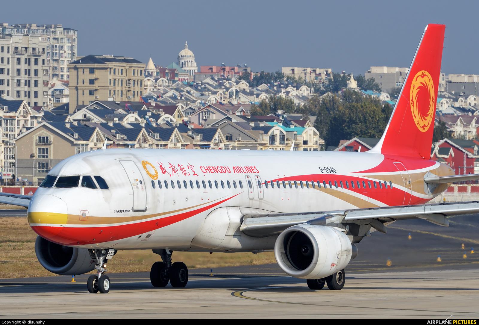 Chengdu Airlines B-6940 aircraft at Dalian Zhoushuizi Int'l