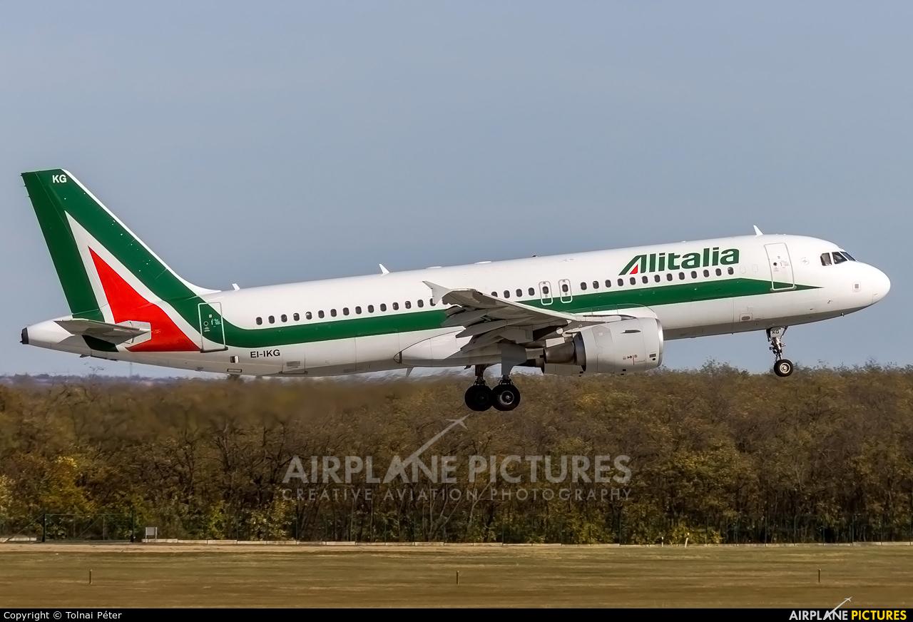 Alitalia EI-IKG aircraft at Budapest Ferenc Liszt International Airport