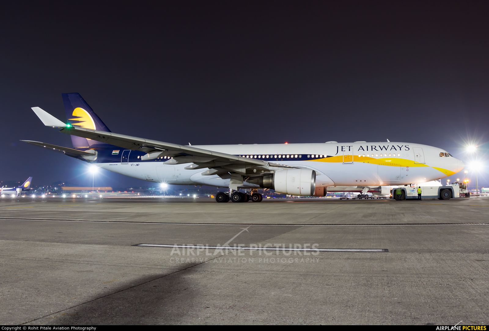 Jet Airways VT-JWP aircraft at Mumbai - Chhatrapati Shivaji Intl