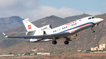 Russian Dassault Falcon 7X visited Tenerife Reina Sofia title=