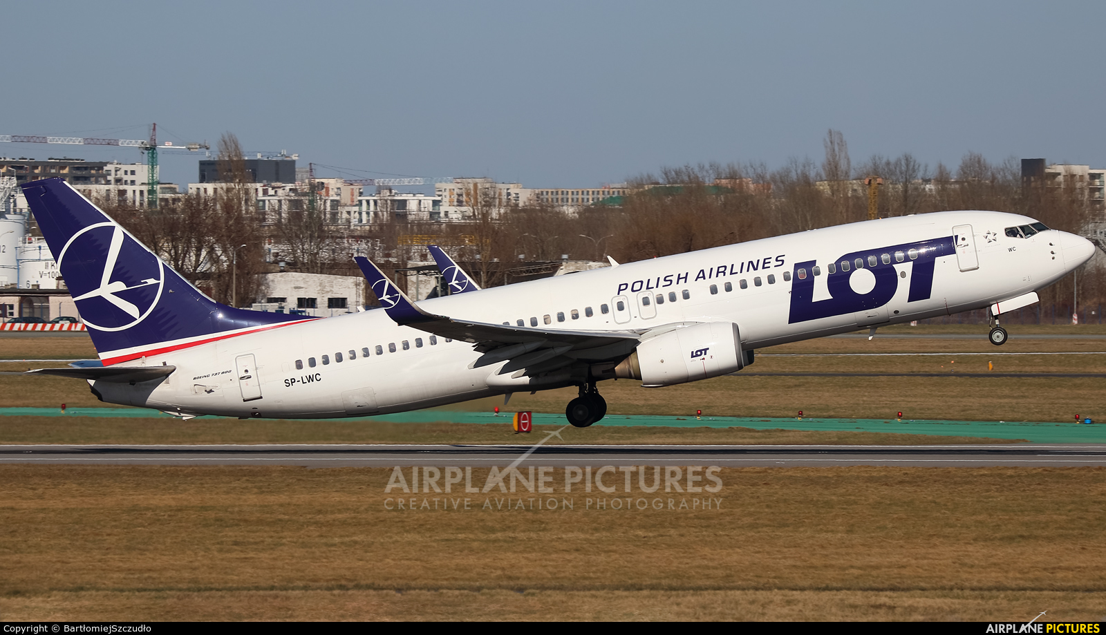LOT - Polish Airlines SP-LWC aircraft at Warsaw - Frederic Chopin