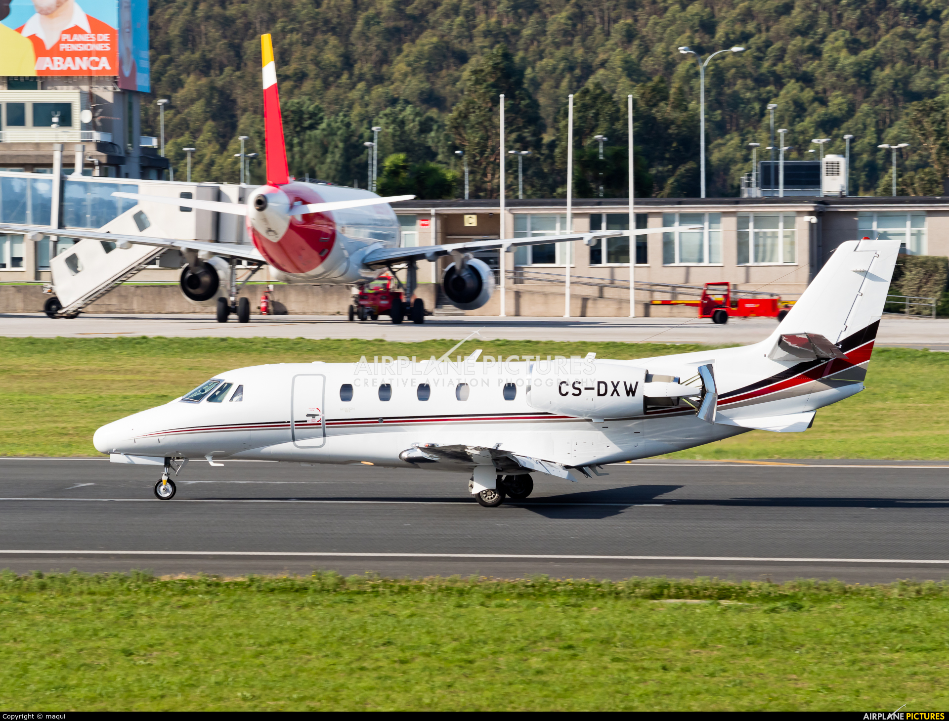 NetJets Europe (Portugal) CS-DXW aircraft at La Coruña