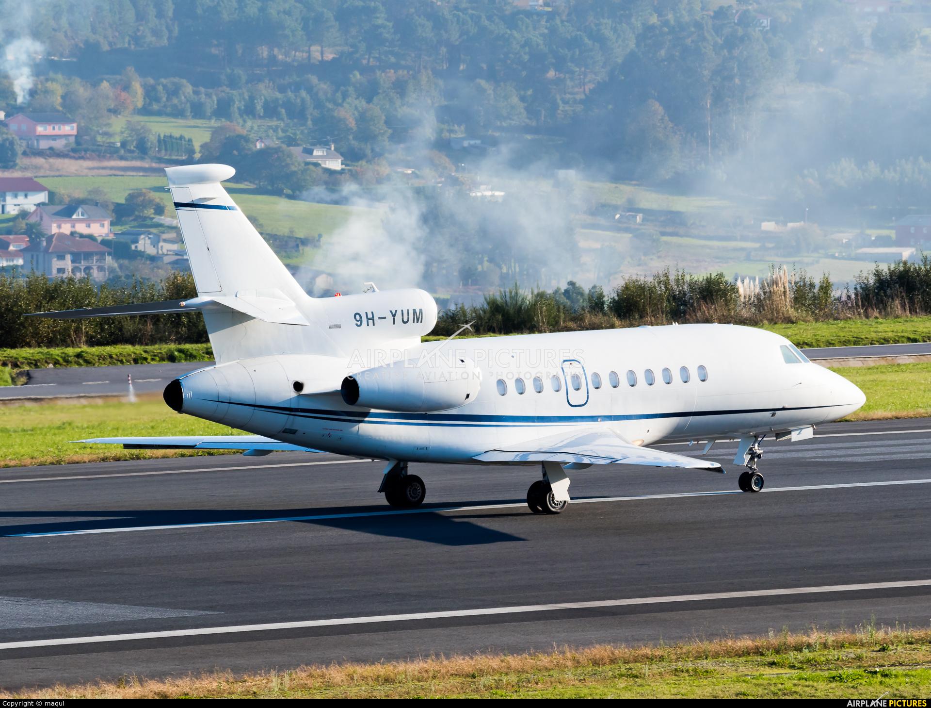 TAG Aviation 9H-YUM aircraft at La Coruña