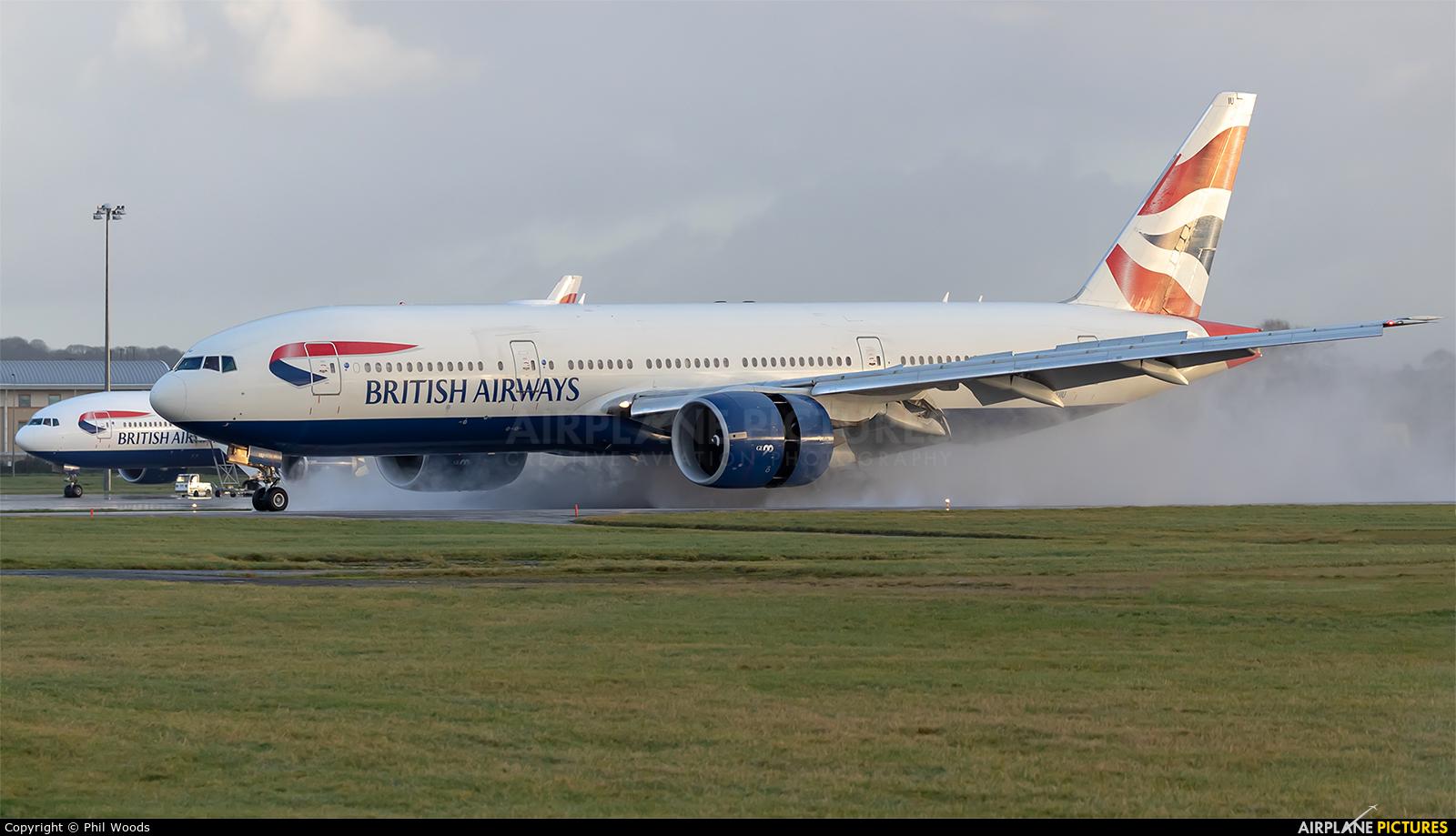 British Airways G-VIIU aircraft at Cardiff