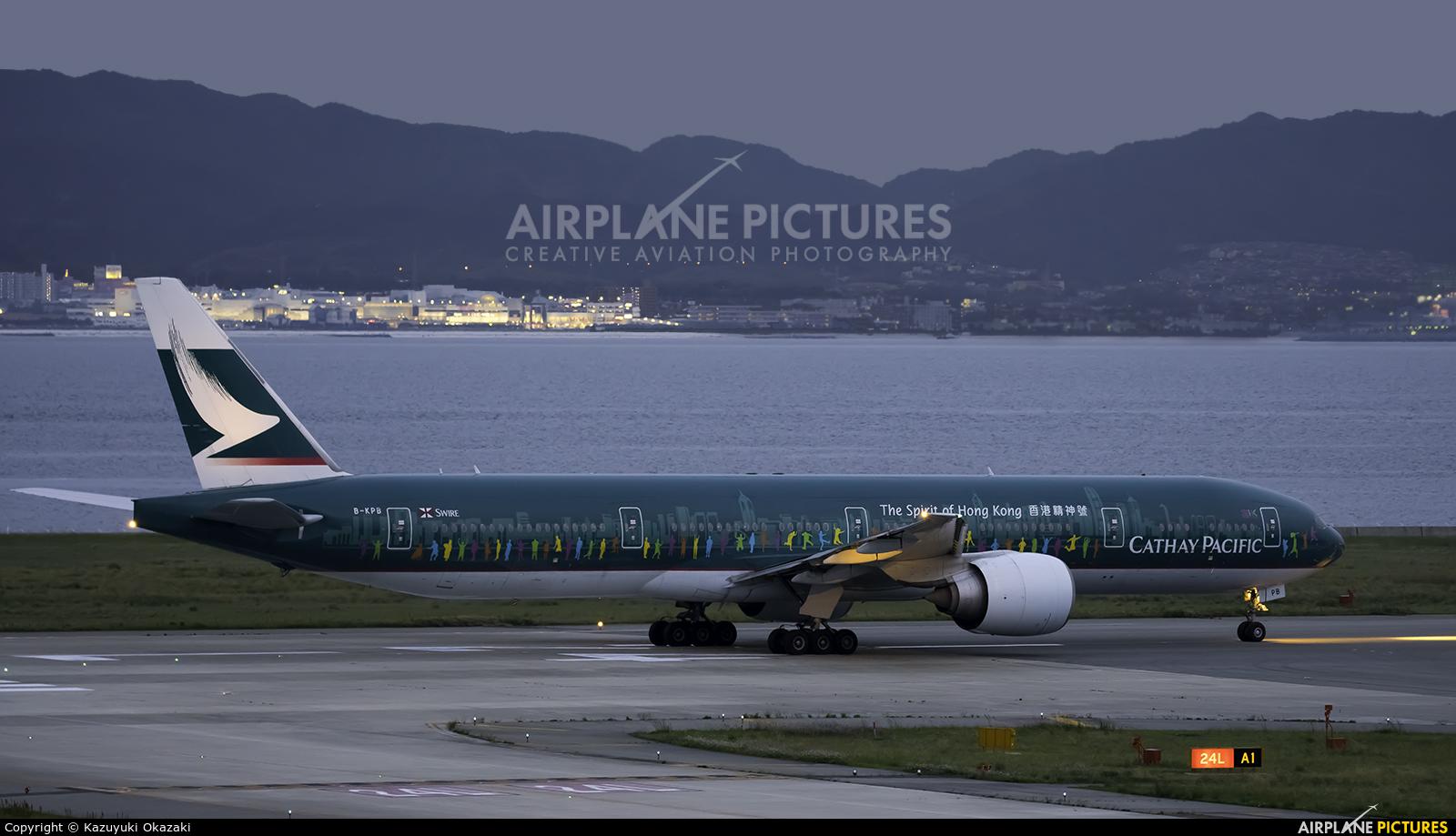 Cathay Pacific B-KPB aircraft at Kansai Intl
