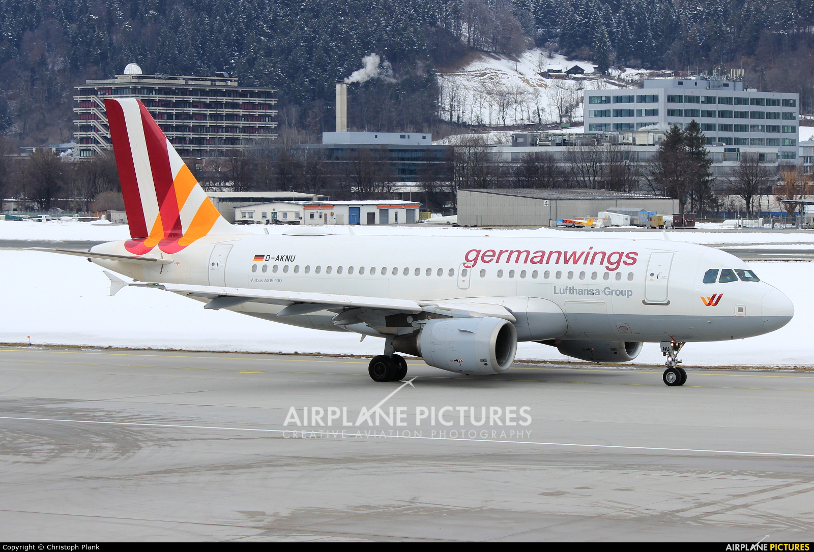 Germanwings D-AKNU aircraft at Innsbruck