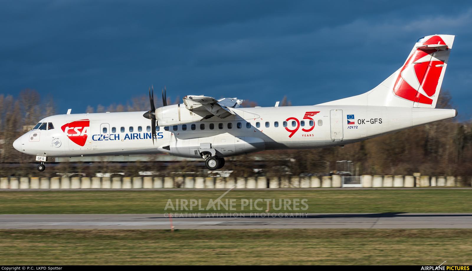 CSA - Czech Airlines OK-GFS aircraft at Pardubice