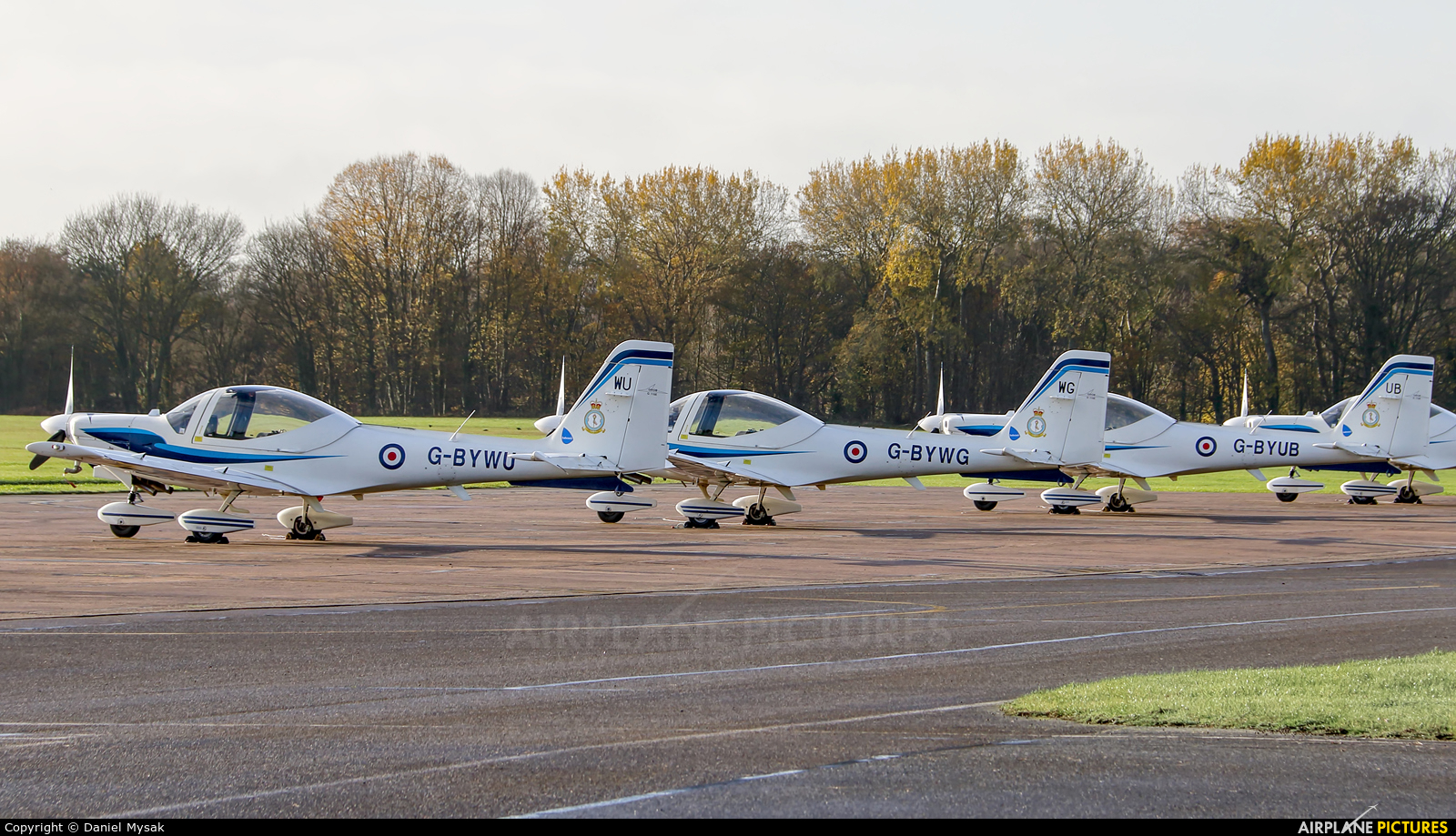 Royal Air Force: Air Cadets G-BYWU aircraft at Cosford