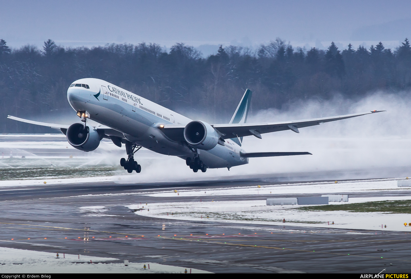 Cathay Pacific B-KPP aircraft at Zurich