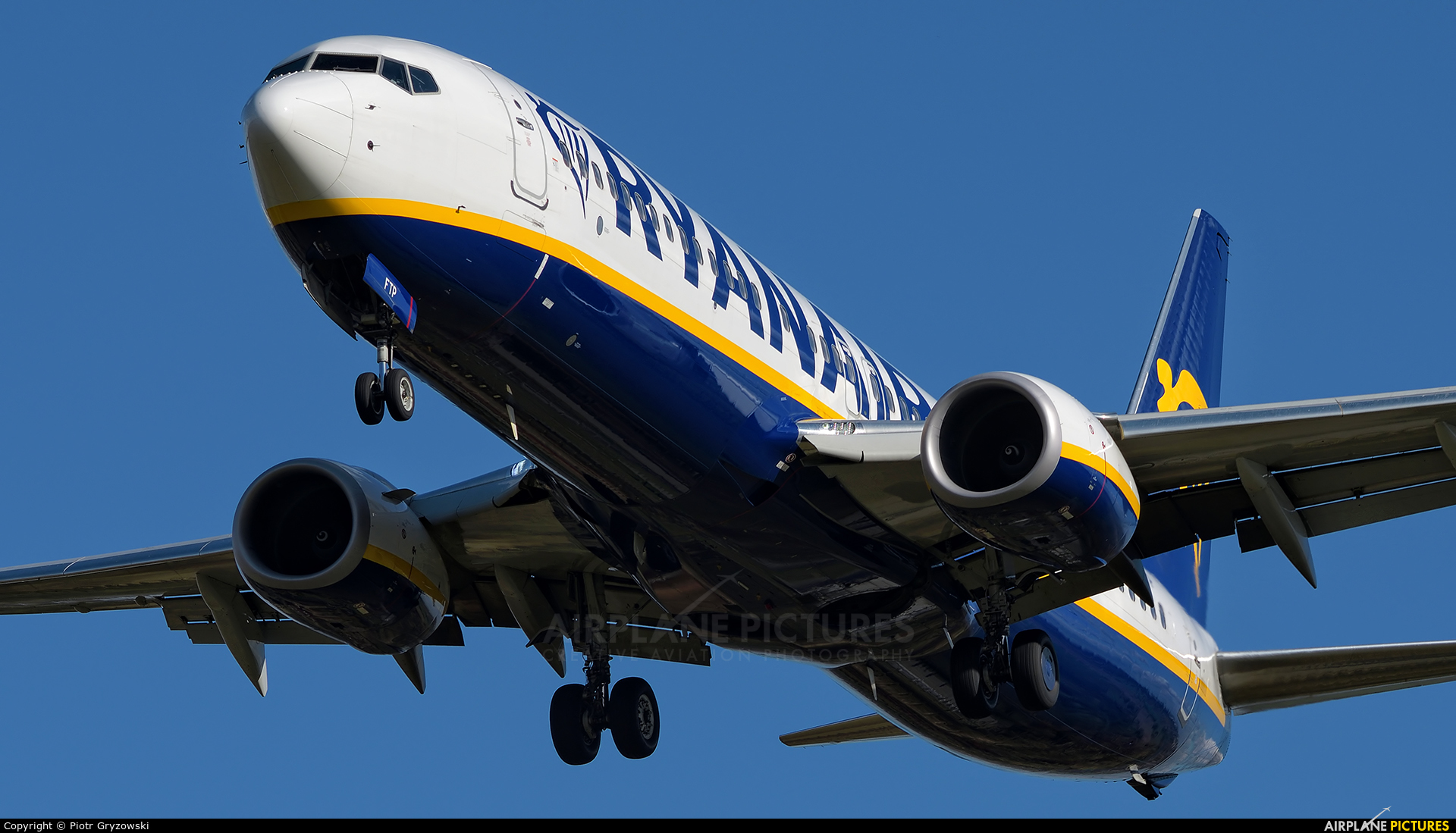 Ryanair EI-FTP aircraft at Kraków - John Paul II Intl