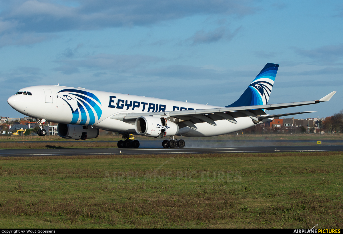 Egyptair SU-GCE aircraft at Ostend / Bruges