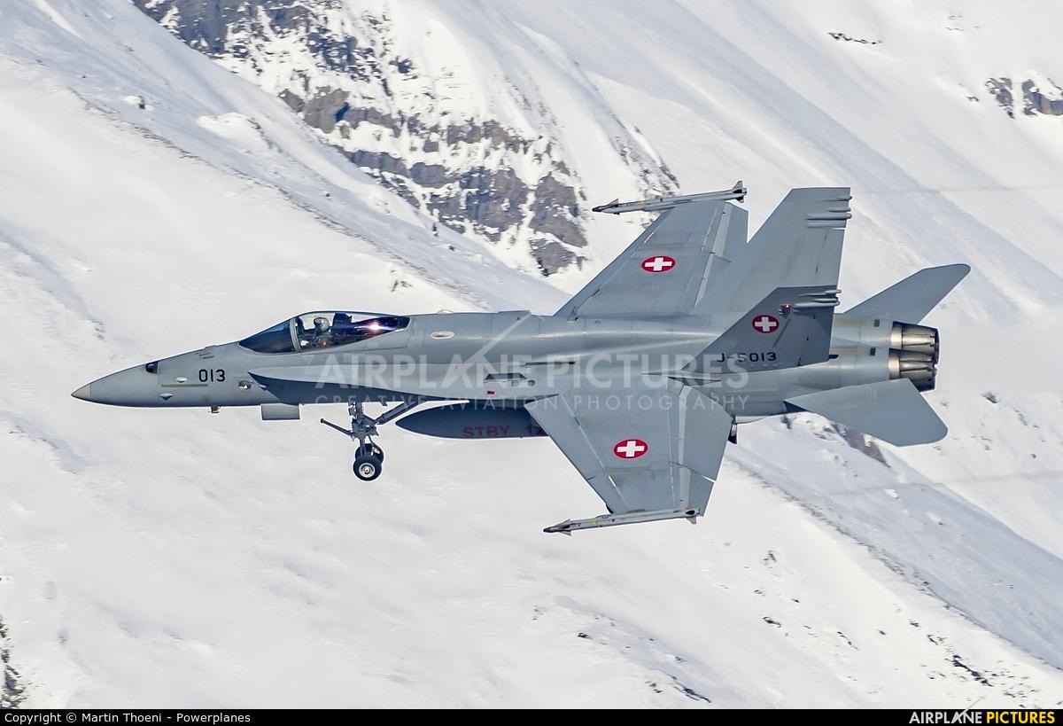 Switzerland - Air Force J-5013 aircraft at Sion