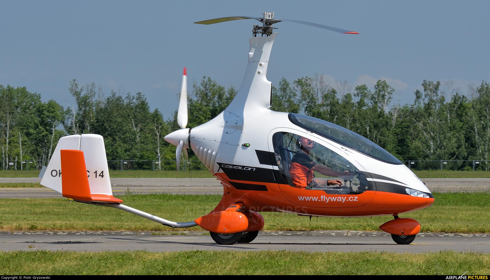 Private OK-TWC 14 aircraft at Hradec Králové