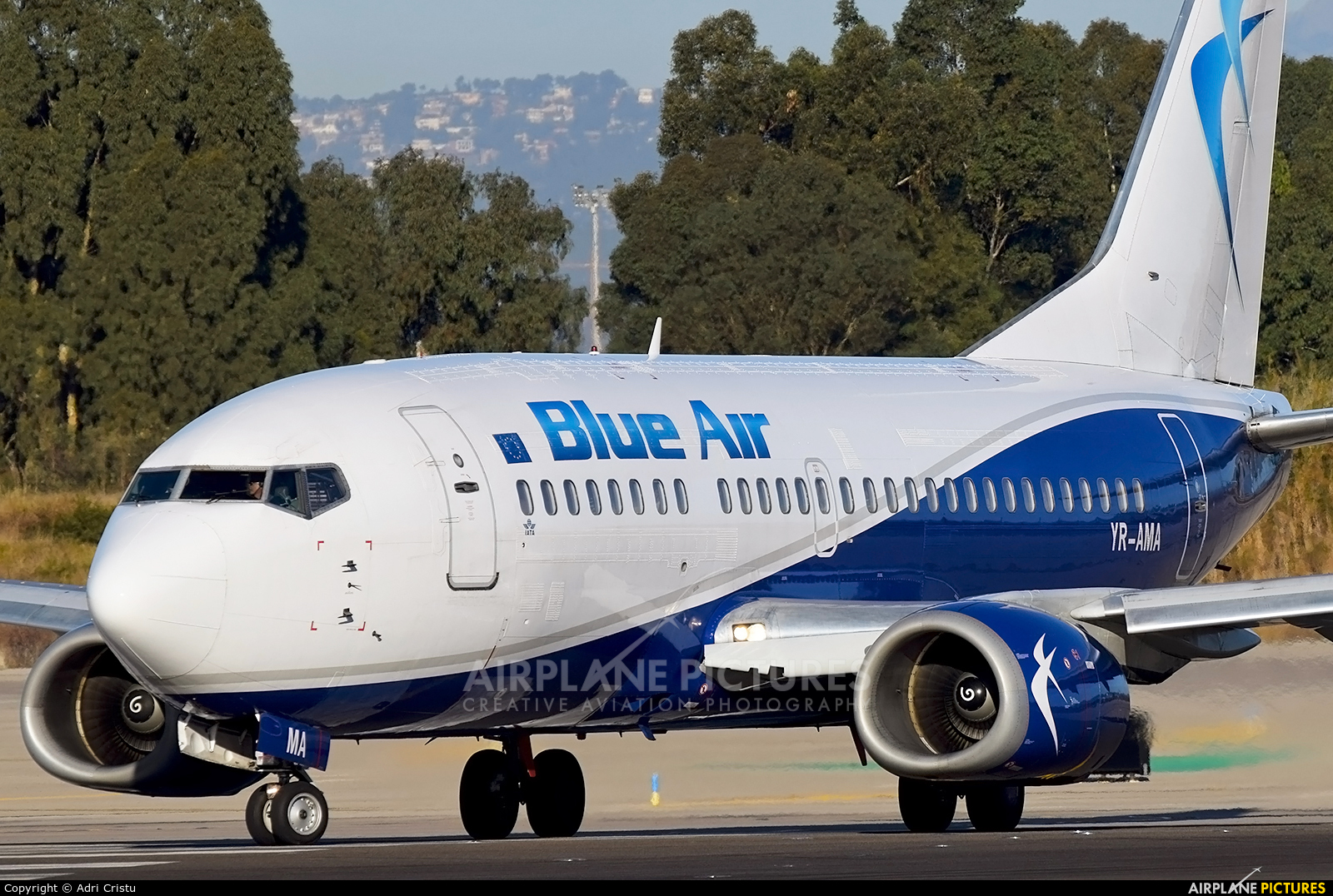 Blue Air YR-AMA aircraft at Barcelona - El Prat