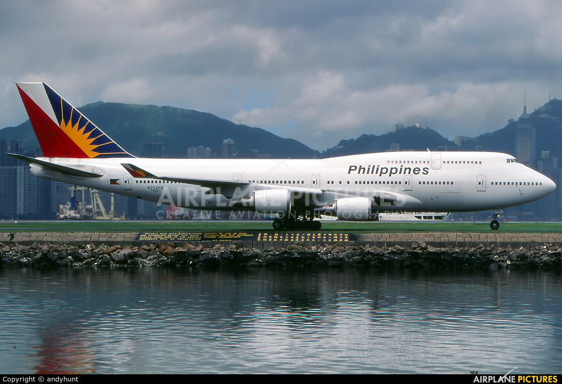 Philippines Airlines N752PR aircraft at HKG - Kai Tak Intl CLOSED