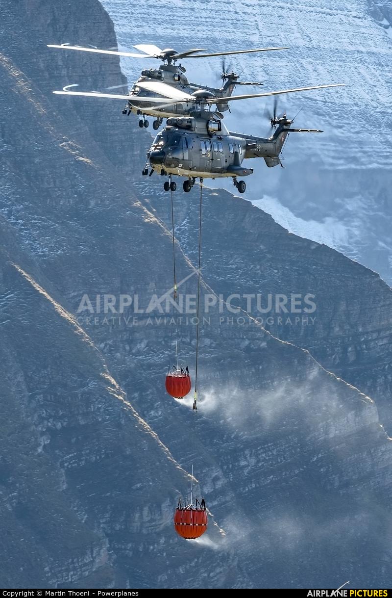 Switzerland - Air Force T-332 aircraft at Axalp - Ebenfluh Range