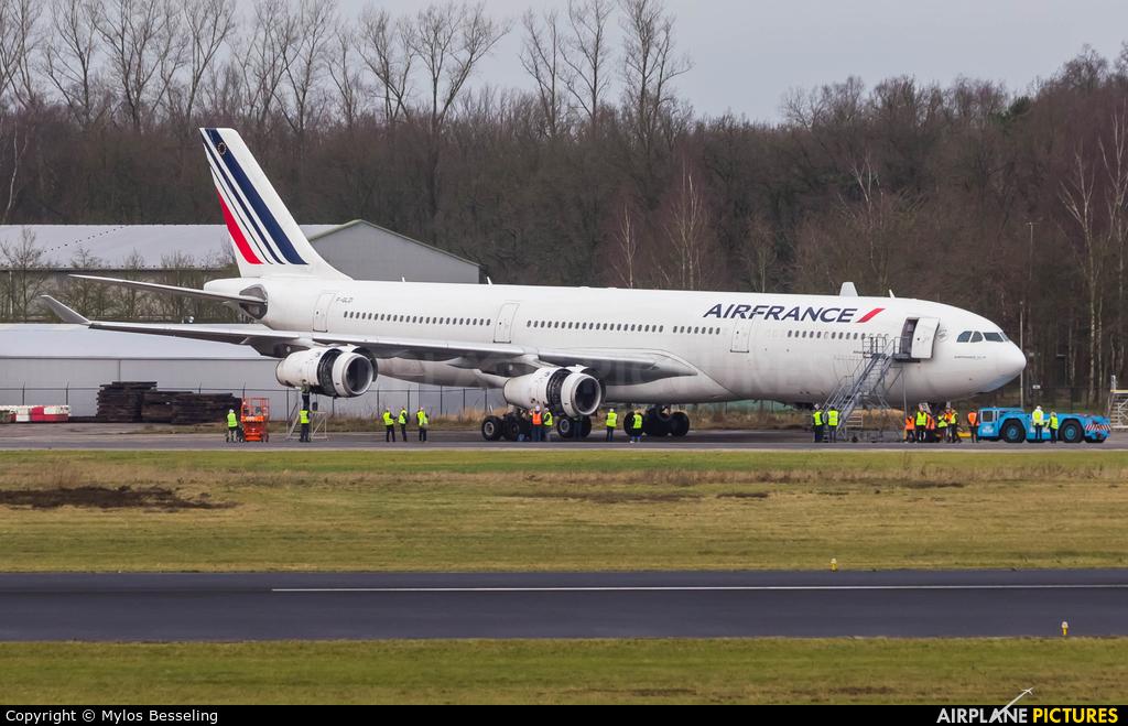 Air France F-GLZI aircraft at Enschede Airport Twente