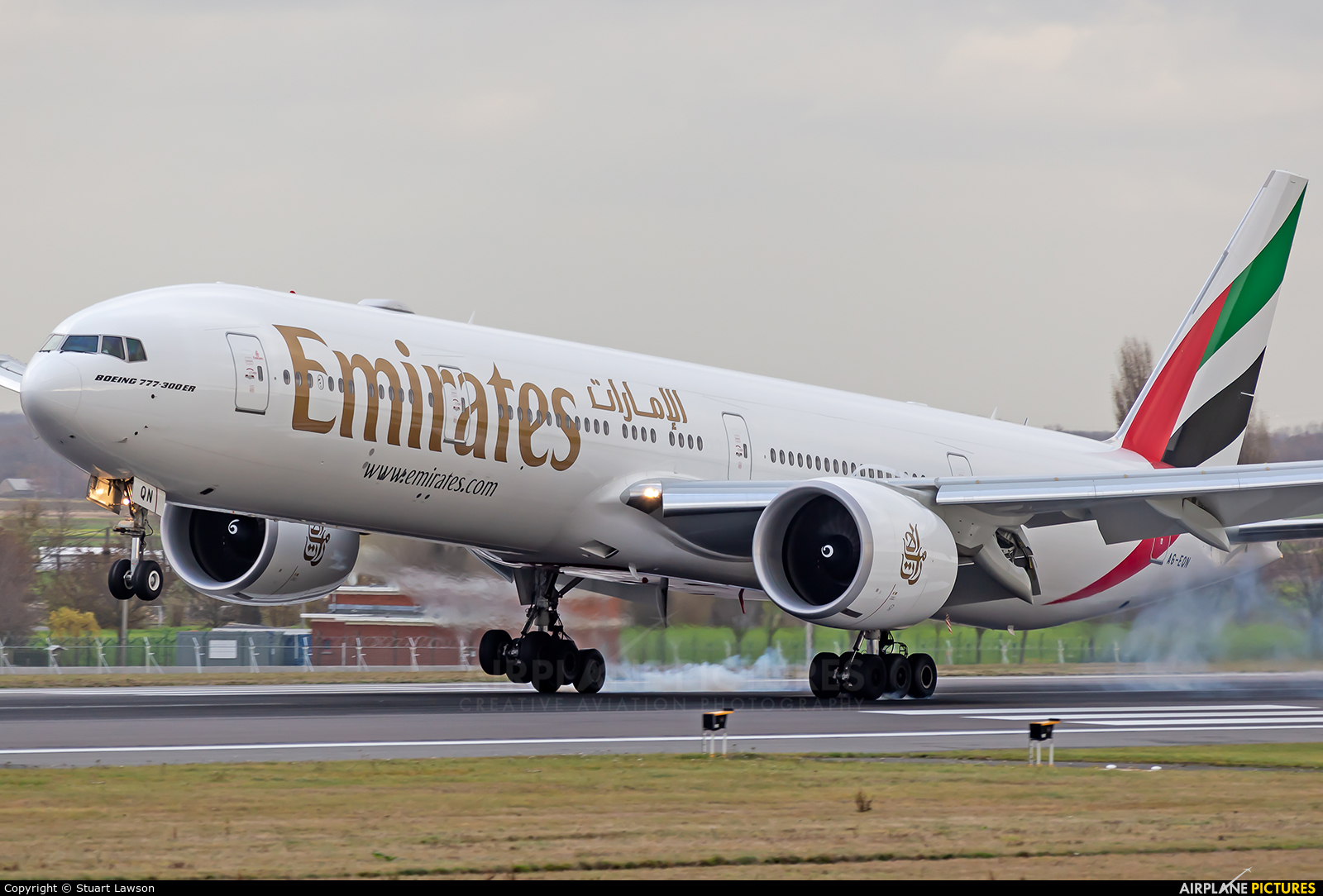 Emirates Airlines A6-EQN aircraft at Brussels - Zaventem