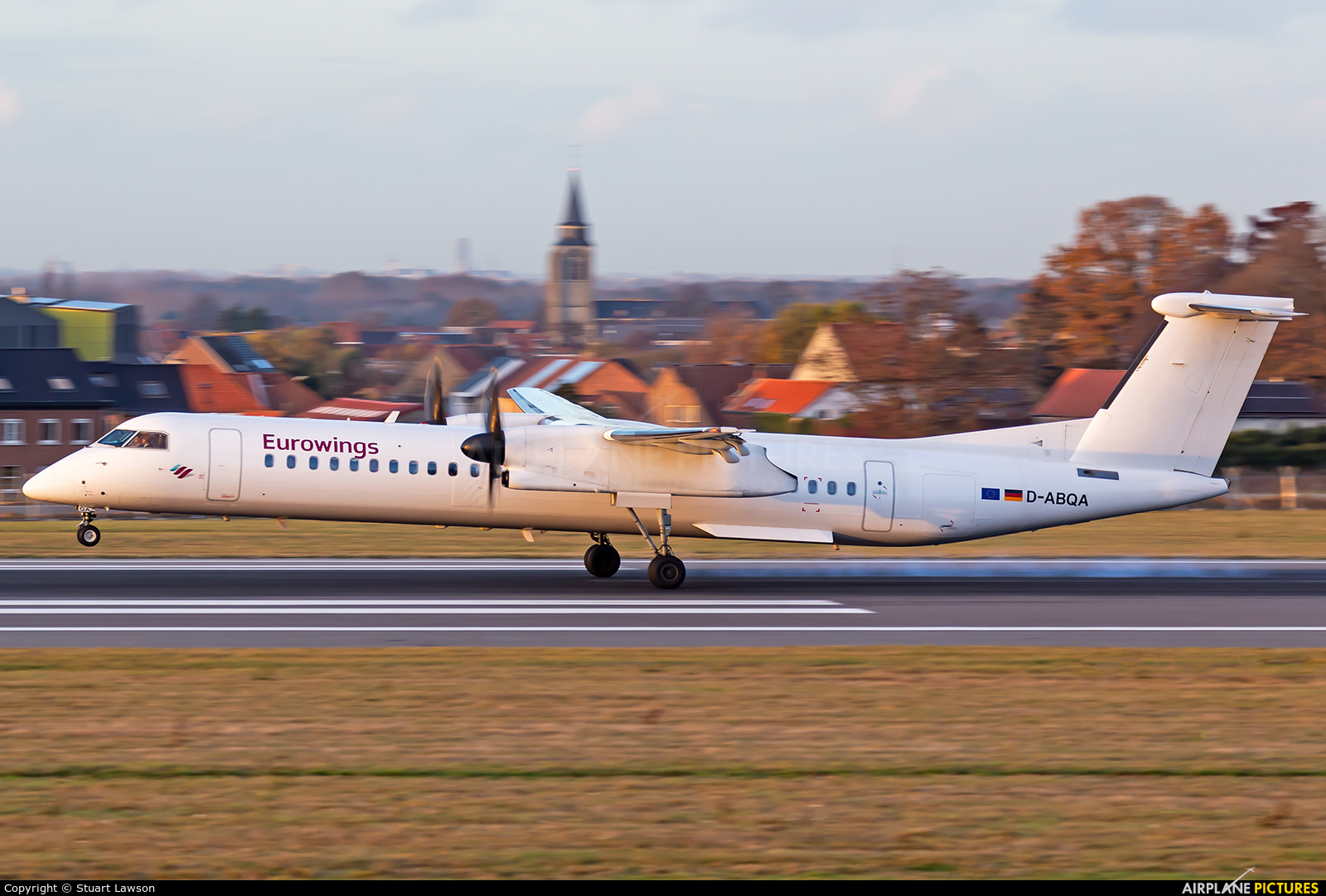 Eurowings D-ABQA aircraft at Brussels - Zaventem