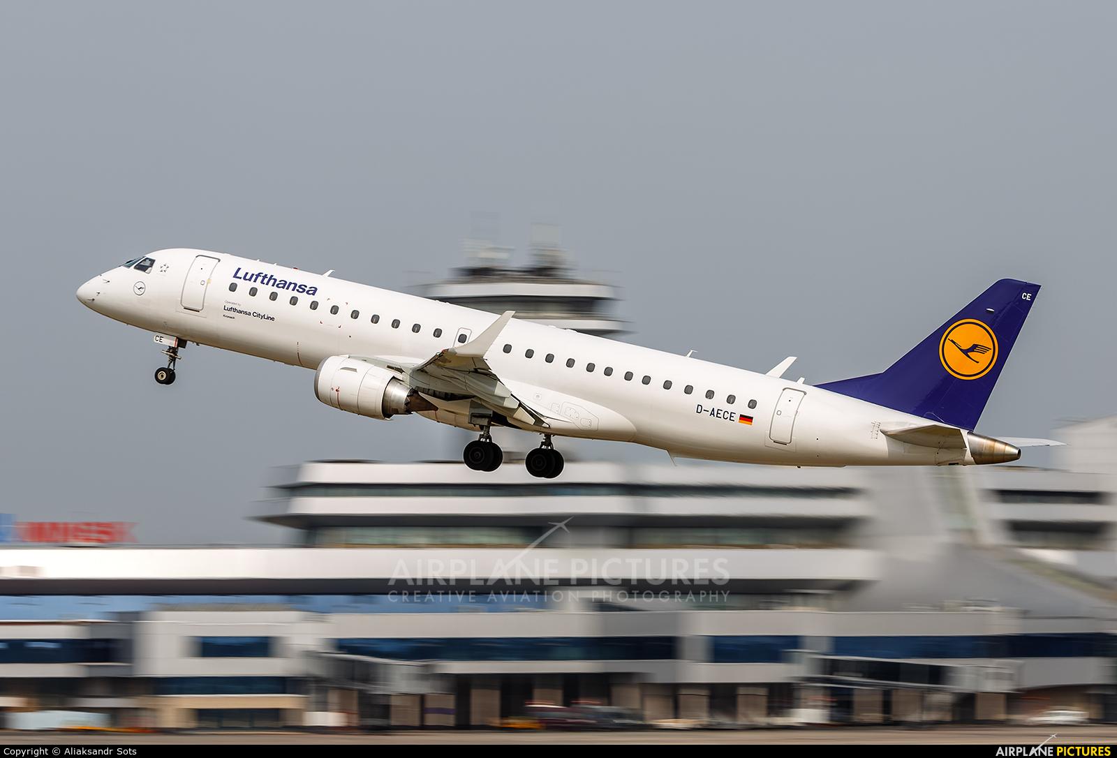 Lufthansa Regional - CityLine D-AECE aircraft at Minsk Intl