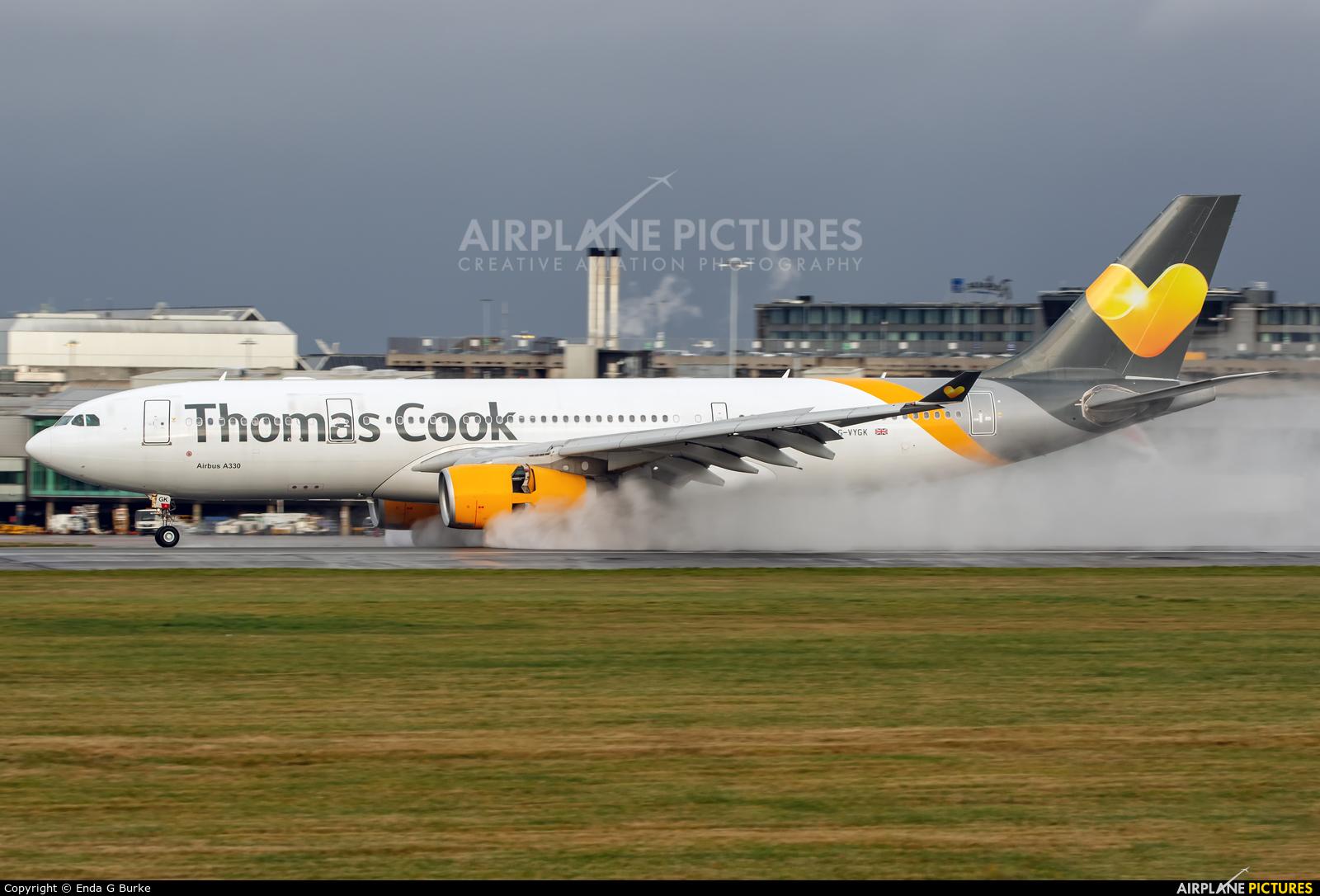 Thomas Cook G-VYGK aircraft at Manchester