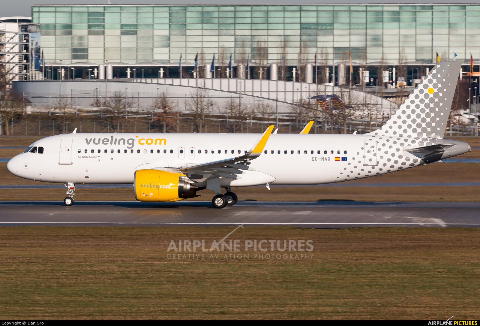 Vueling Airlines EC-NAX aircraft at Munich