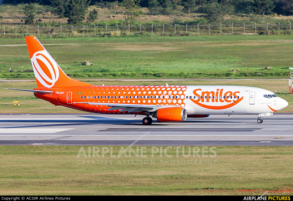 GOL Transportes Aéreos  PR-GIT aircraft at São Paulo - Guarulhos