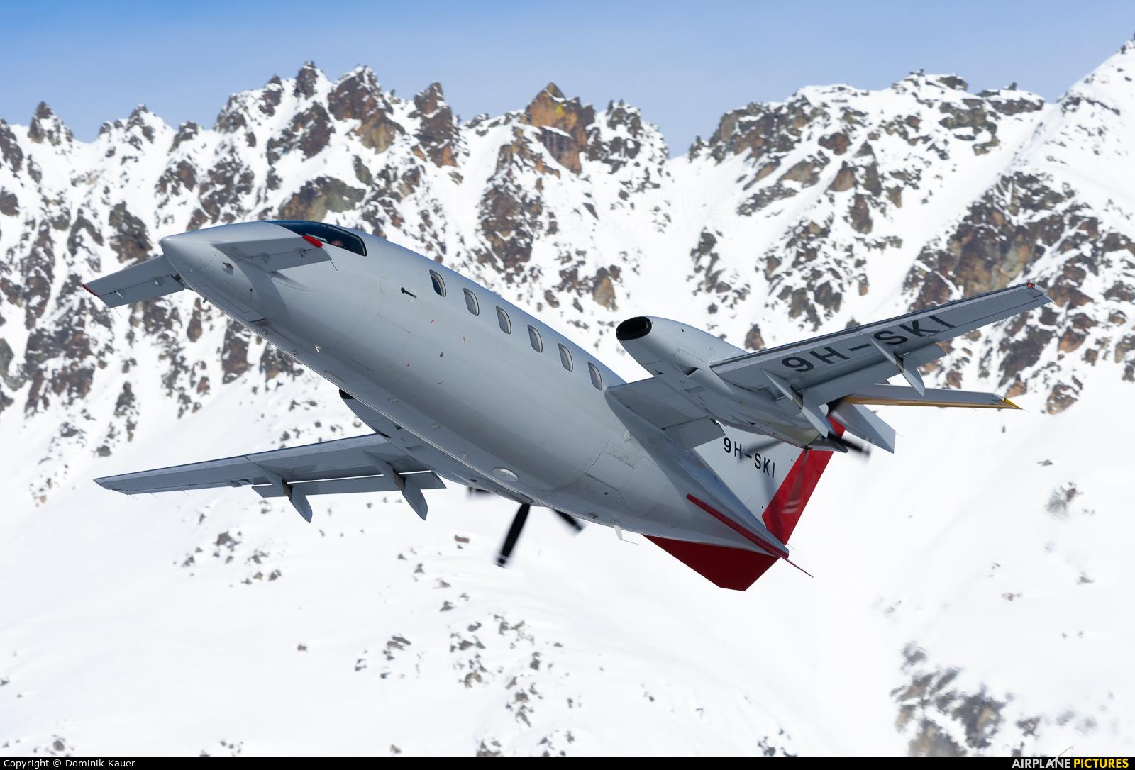 Private 9H-SKI aircraft at Samedan - Engadin
