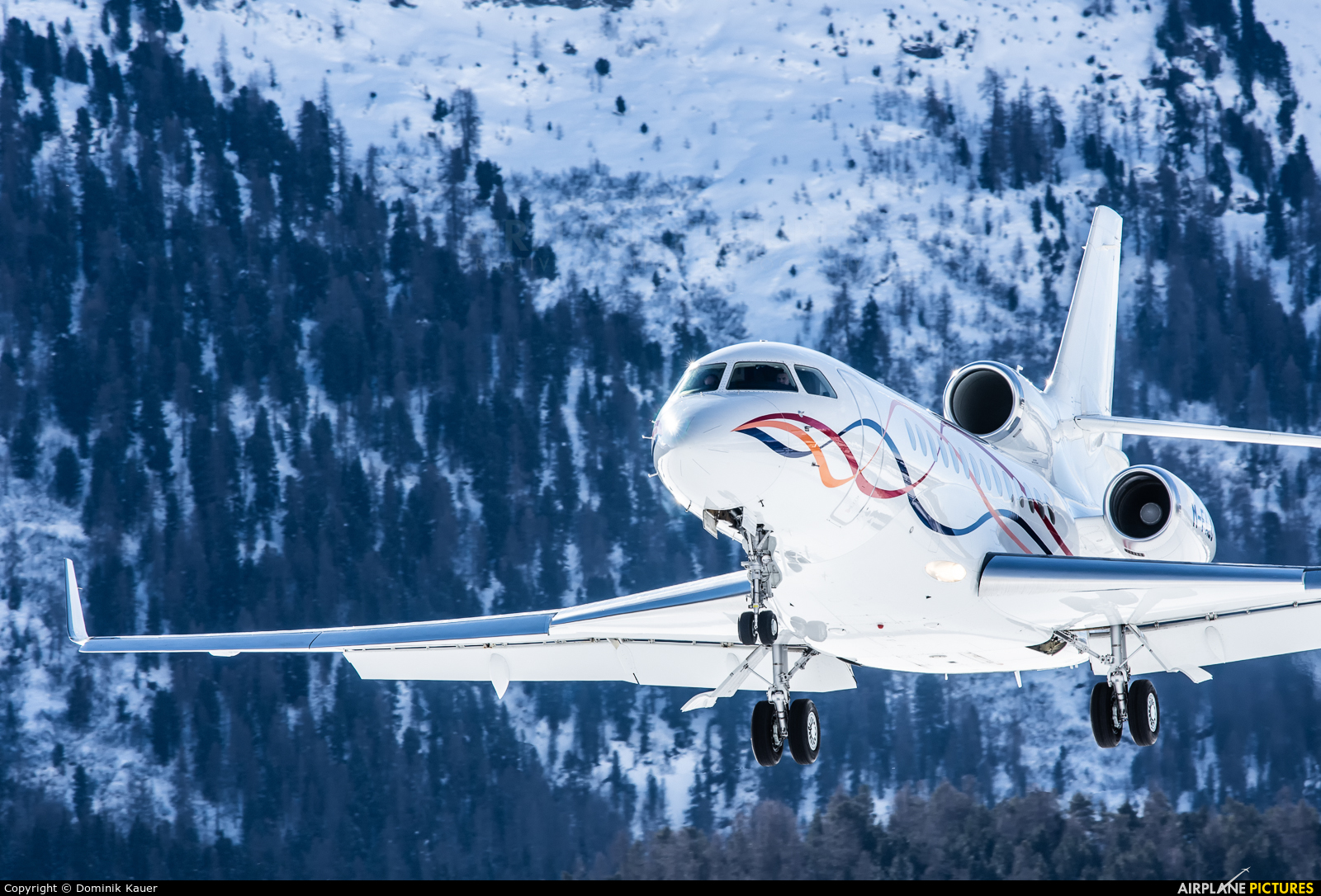 Private M-FALC aircraft at Samedan - Engadin