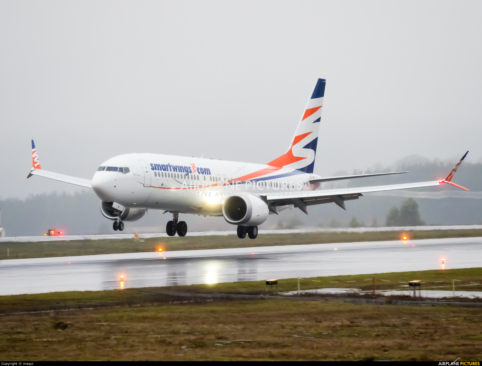 SmartWings OK-SWA aircraft at Santiago de Compostela