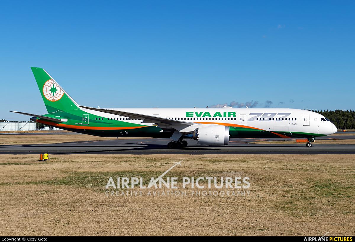 Eva Air B-17881 aircraft at Tokyo - Narita Intl