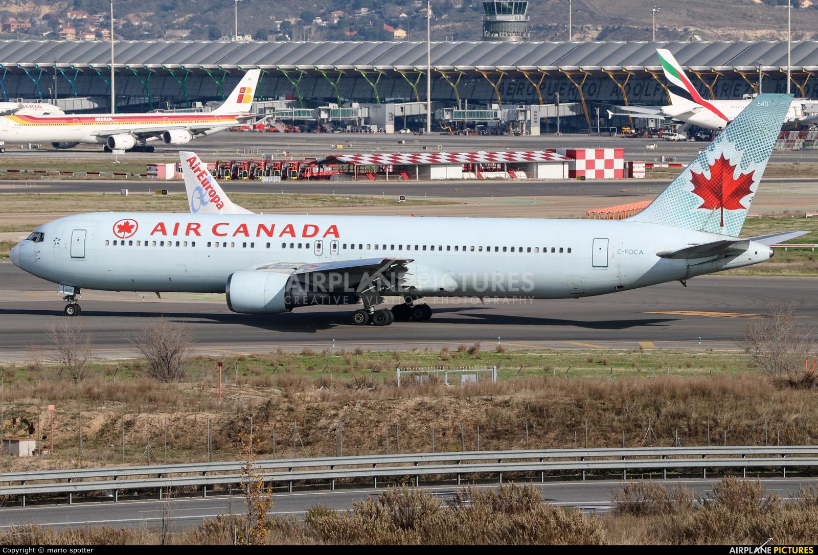 Air Canada C-FOCA aircraft at Madrid - Barajas