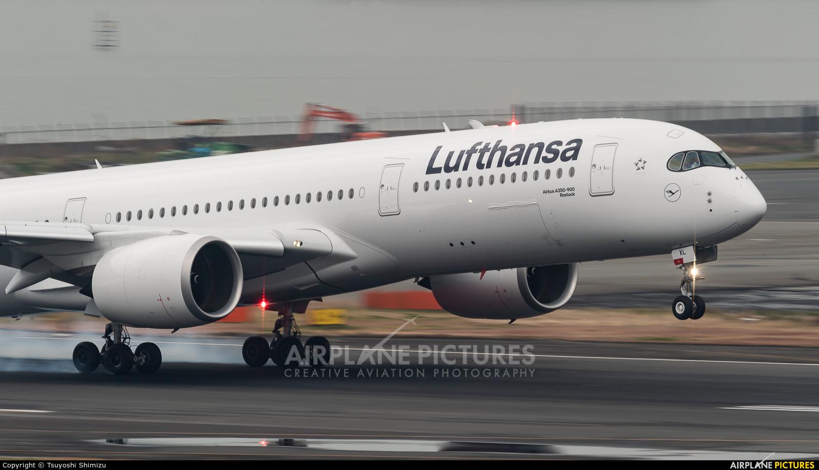 Lufthansa D-AIXL aircraft at Tokyo - Haneda Intl