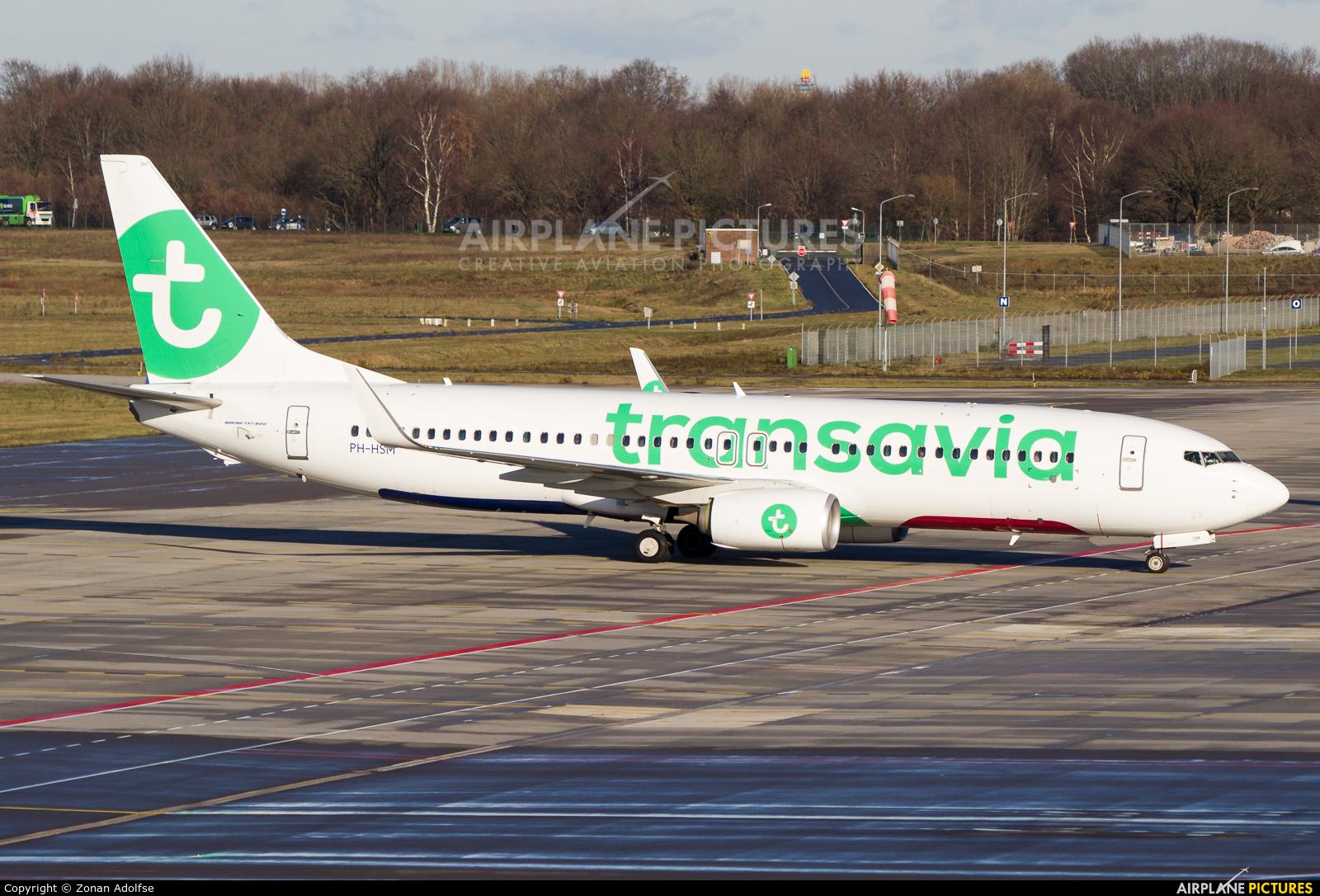 Transavia PH-HSM aircraft at Eindhoven