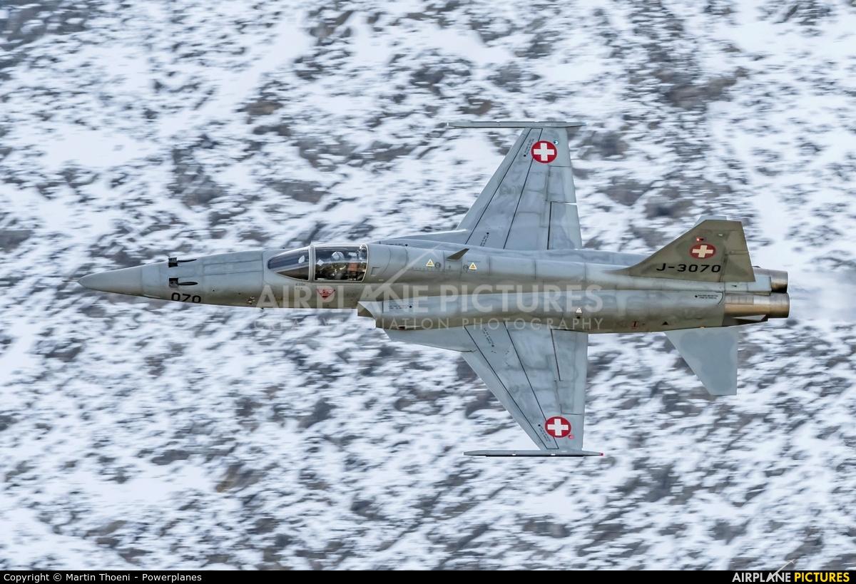 Switzerland - Air Force J-3070 aircraft at Axalp - Ebenfluh Range