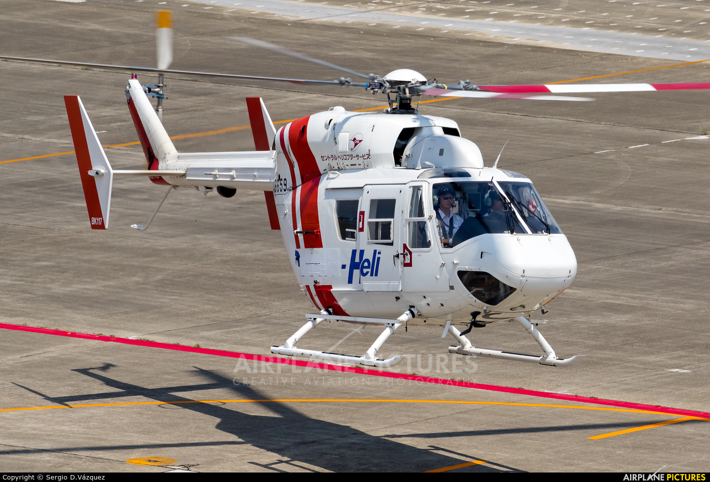 Central Helicopter Service JA6659 aircraft at Nagoya - Komaki AB
