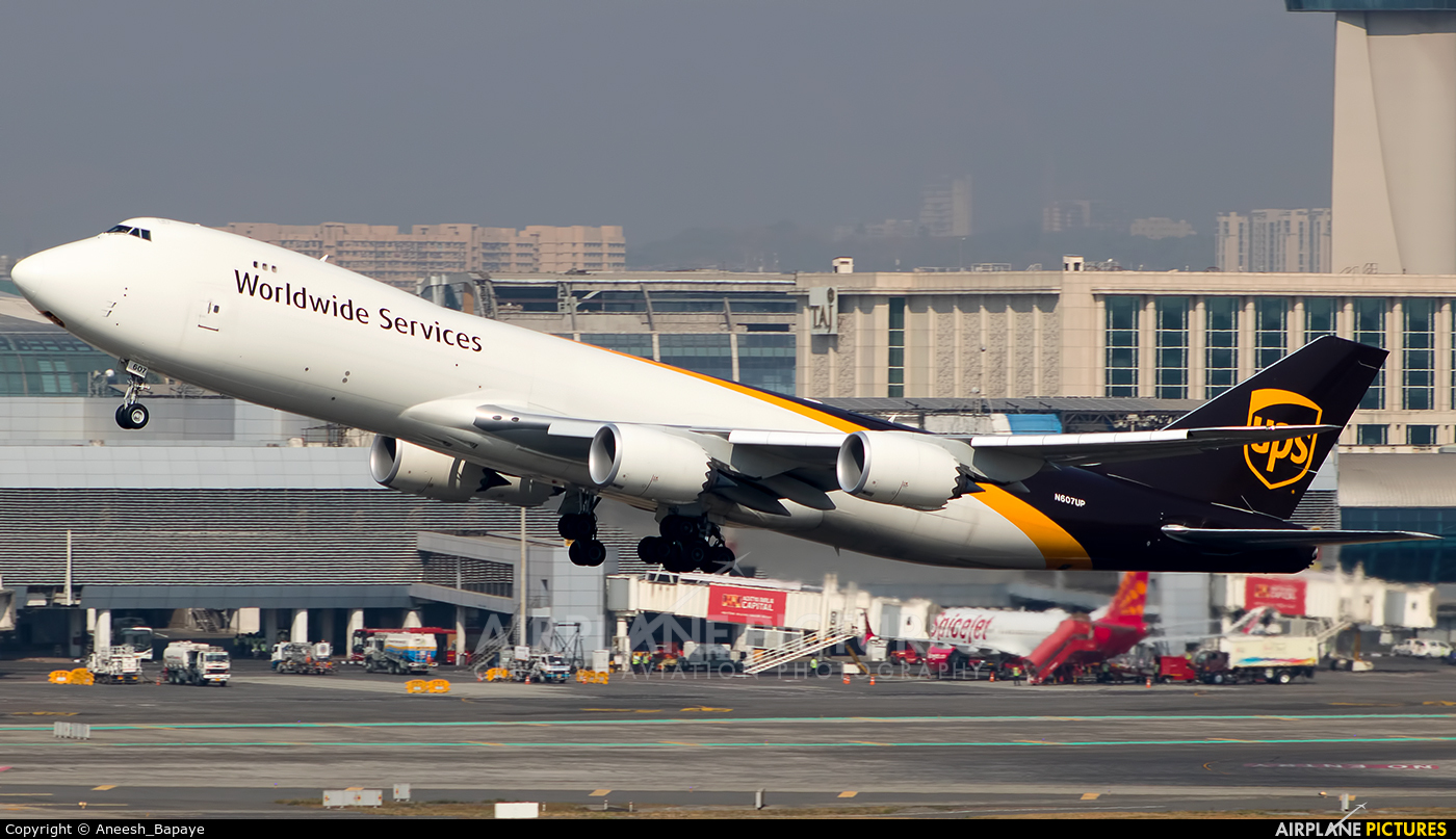 UPS - United Parcel Service N607UP aircraft at Mumbai - Chhatrapati Shivaji Intl