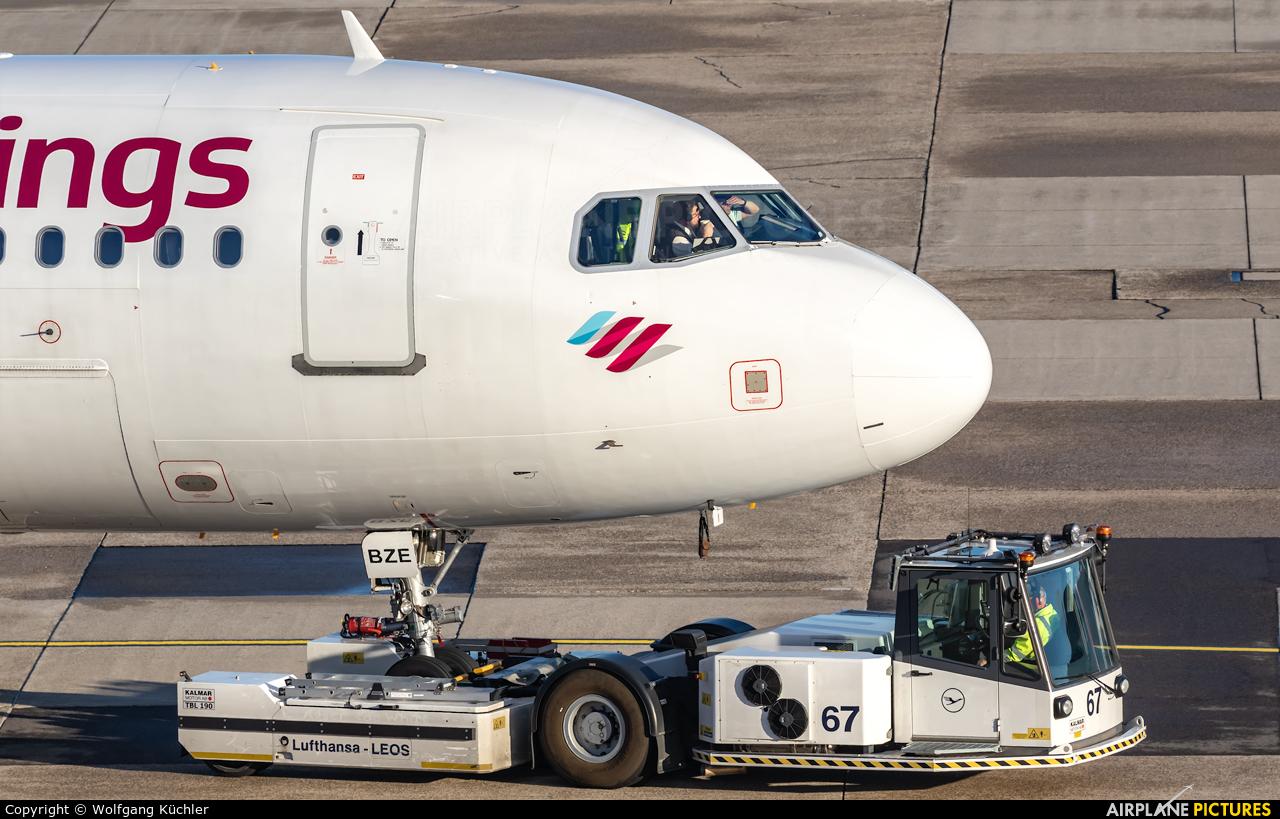 Eurowings D-ABZE aircraft at Düsseldorf