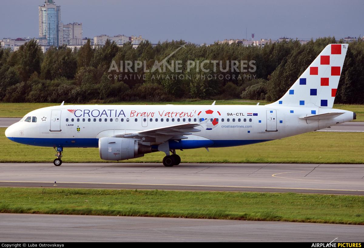 Croatia Airlines 9A-CTL aircraft at St. Petersburg - Pulkovo
