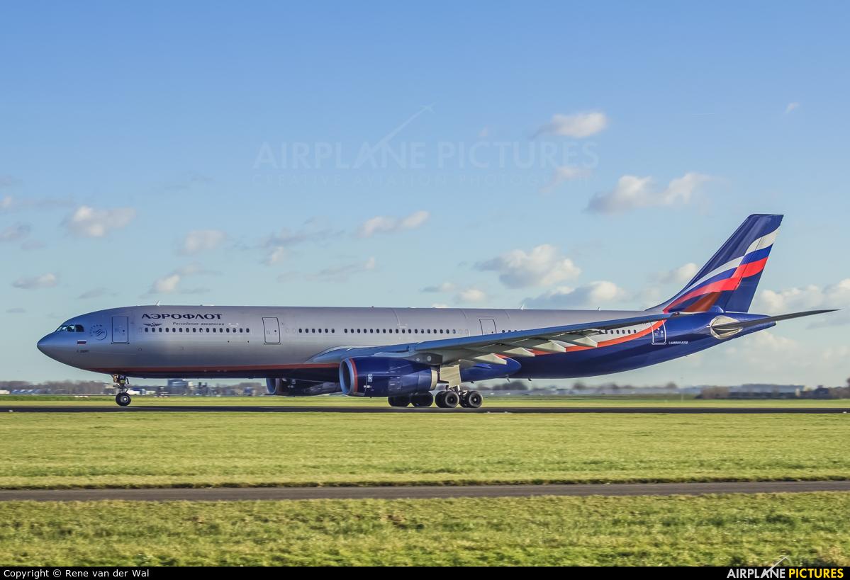 Aeroflot VQ-BPI aircraft at Amsterdam - Schiphol