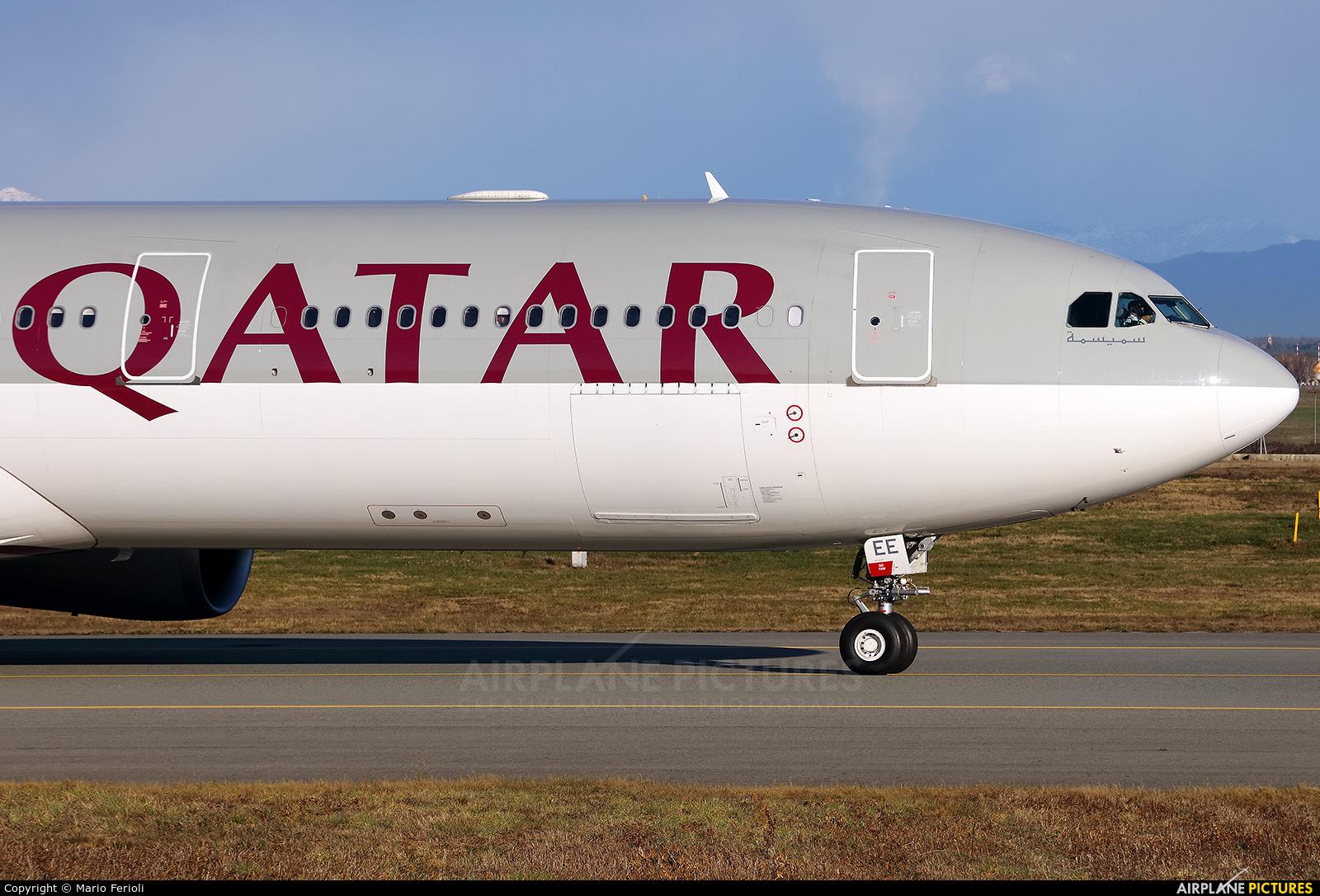 Qatar Airways A7-AEE aircraft at Milan - Malpensa