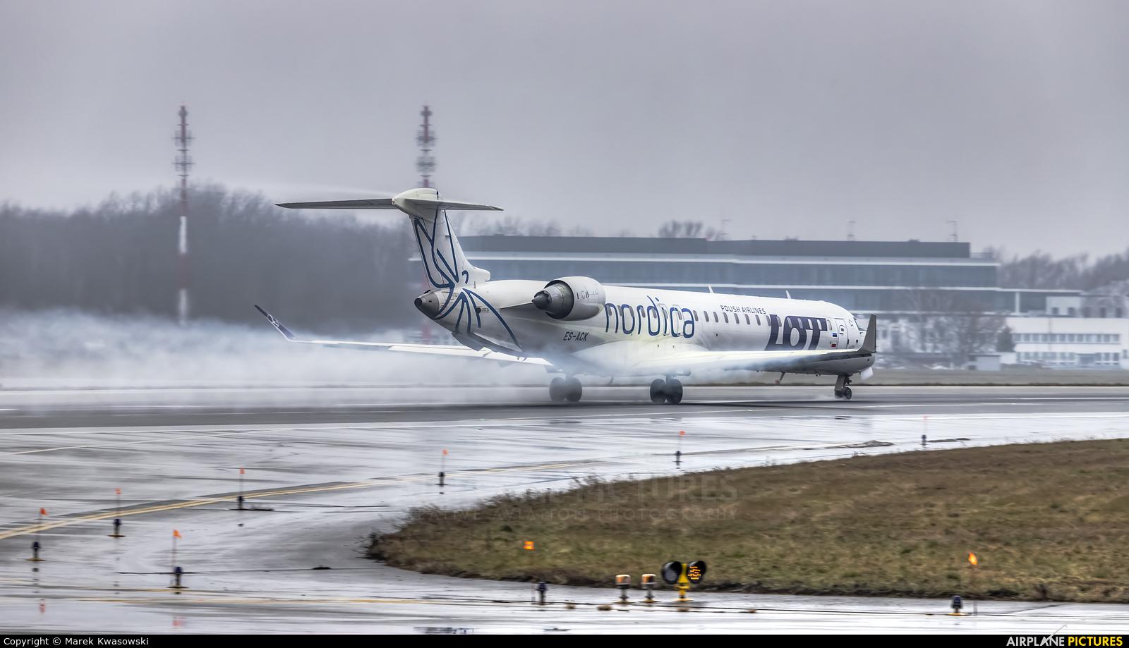 Nordica ES-ACK aircraft at Warsaw - Frederic Chopin