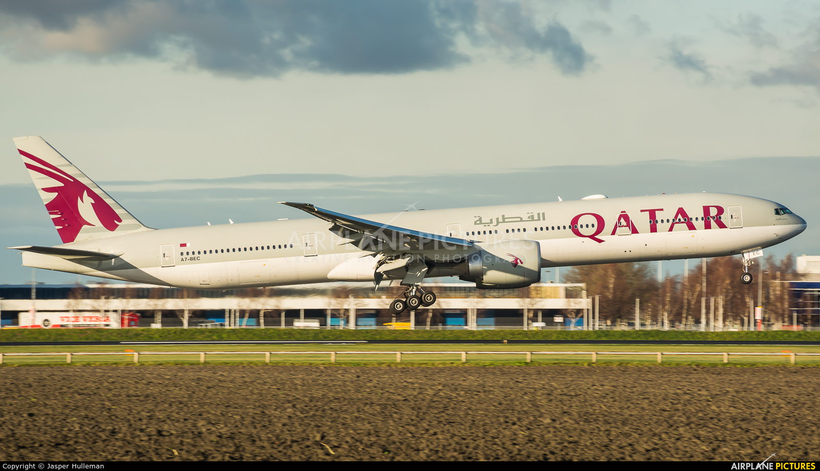 Qatar Airways A7-BEC aircraft at Amsterdam - Schiphol