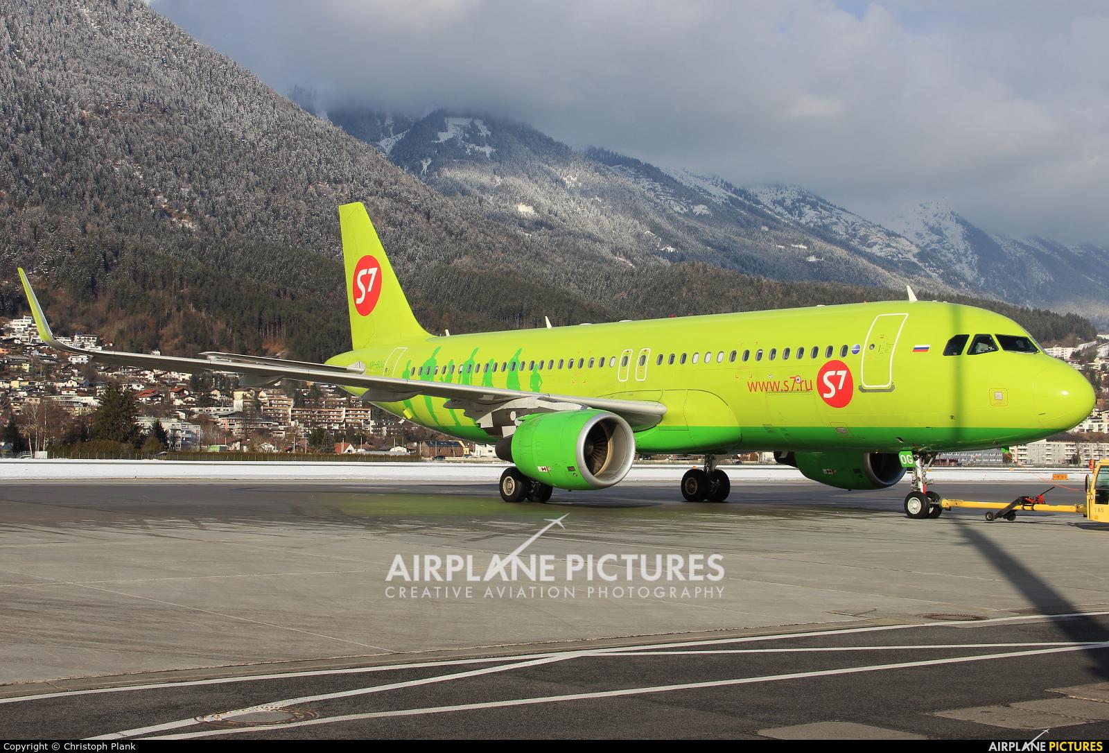 S7 Airlines VP-BOG aircraft at Innsbruck