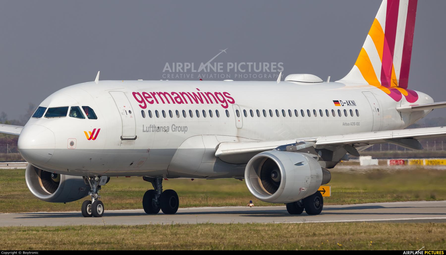Germanwings D-AKNI aircraft at Zagreb