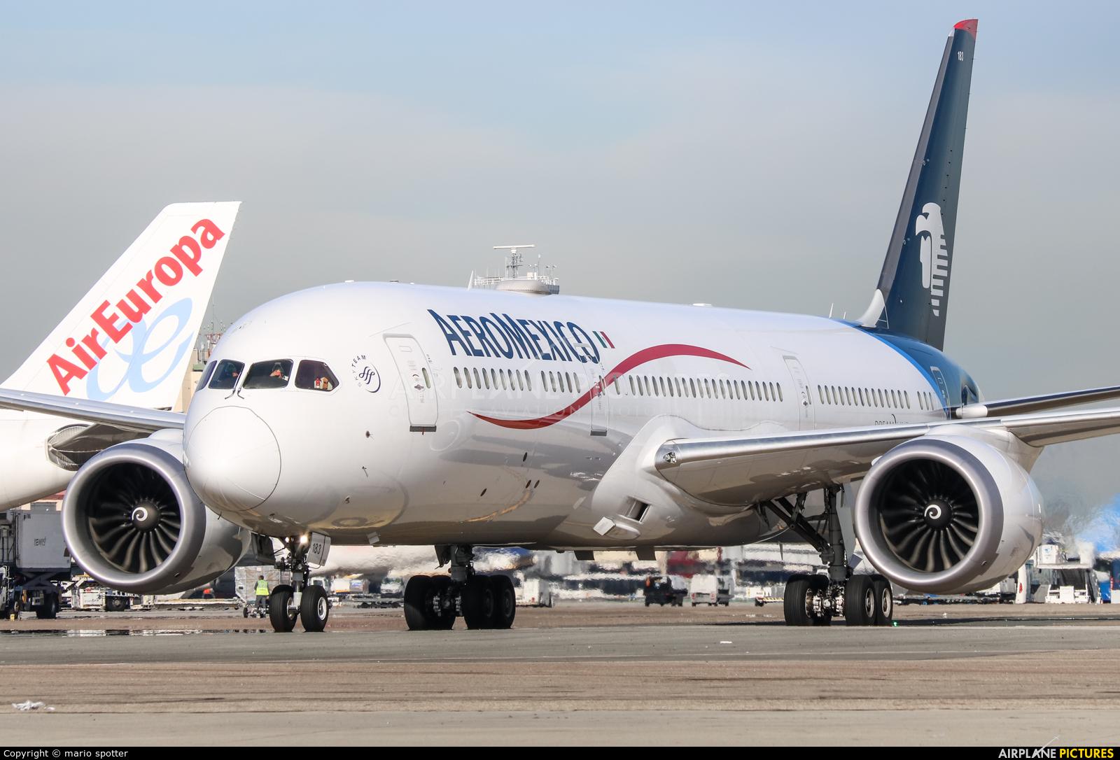 Aeromexico N183AM aircraft at Madrid - Barajas